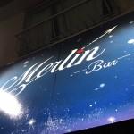 【手描き看板、シャッターイラスト☆星空】@東京都武蔵村山市Bar『Merlin-マーリン』さん