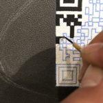 【手描きQRコード☆黒板クロス】@東京都渋谷区『猫カフェCoo&RIKU』様