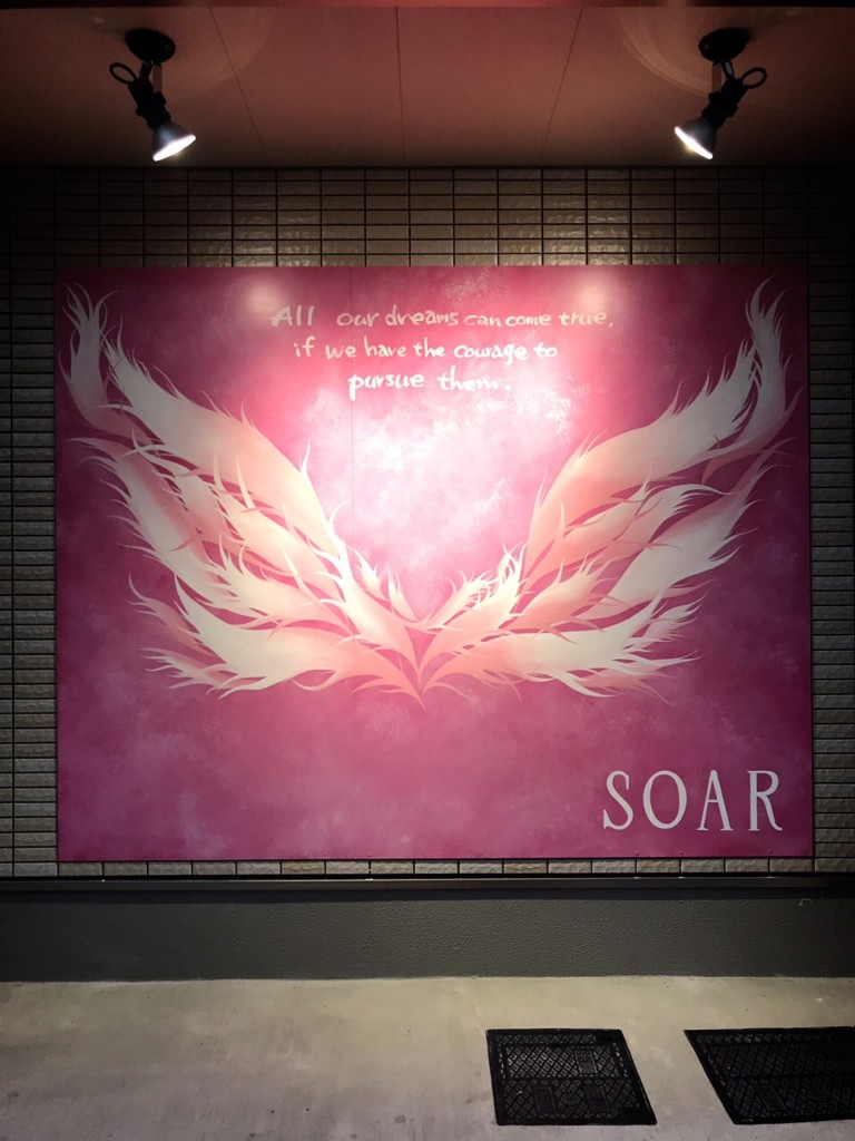【手描き壁画☆羽根〜インスタ映え〜】@神奈川県川崎市美容室『SOAR』様