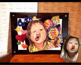 似顔絵制作13 娘4歳の誕生日記念