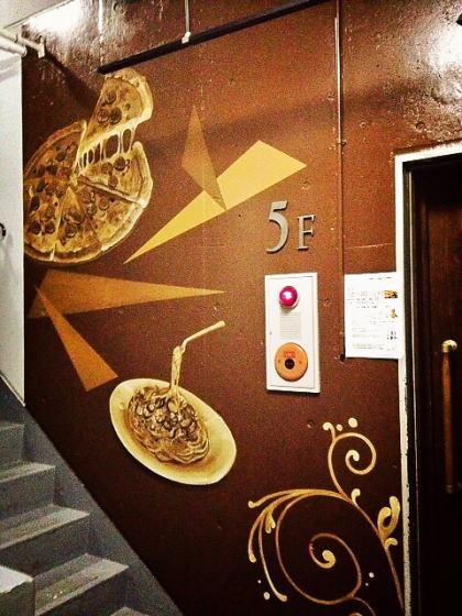 ENOTECA CANTINA様 - 東京都立川市/飲食店 店舗階段壁画施工後写真2