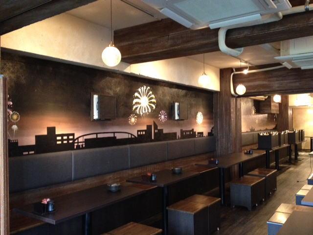 HANABI様 - 東京都/飲食店 店舗内装・壁画イラスト施工後写真2