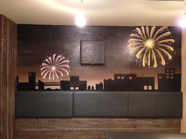 HANABI様 - 東京都/飲食店 店舗内装・壁画イラスト施工後写真4
