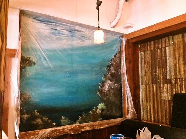 くわち家様 - 東京都福生市/飲食店・居酒屋 店舗内装・壁画イラスト施工後写真1