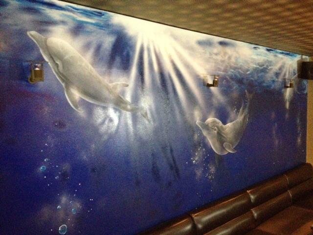 パブスナックH2O様 - 東京都東大和市/居酒屋・バー・スナック 店舗内装・壁画イラスト施工後写真2