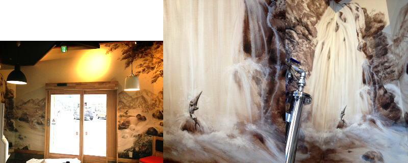 魁花様 - 埼玉県新座市/ラーメン屋・飲食店 店舗内装・壁画イラスト施工後写真5