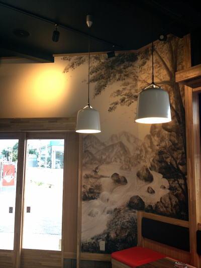 魁花様 - 埼玉県新座市/ラーメン屋・飲食店 店舗内装・壁画イラスト施工後写真2