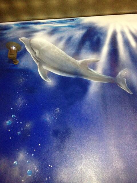 パブスナックH2O様 - 東京都東大和市/居酒屋・バー・スナック 店舗内装・壁画イラスト施工後写真4