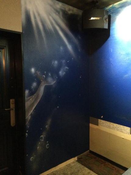 パブスナックH2O様 - 東京都東大和市/居酒屋・バー・スナック 店舗内装・壁画イラスト施工後写真7