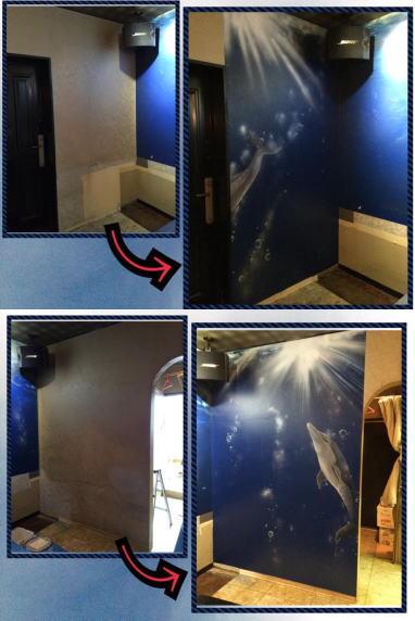 パブスナックH2O様 - 東京都東大和市/居酒屋・バー・スナック 店舗内装・壁画イラスト施工後写真8