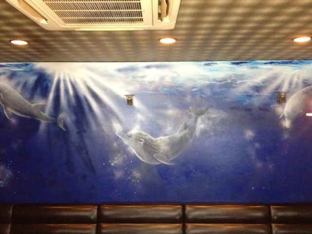 パブスナックH2O様 - 東京都東大和市/居酒屋・バー・スナック 店舗内装・外壁イラスト施工後写真6