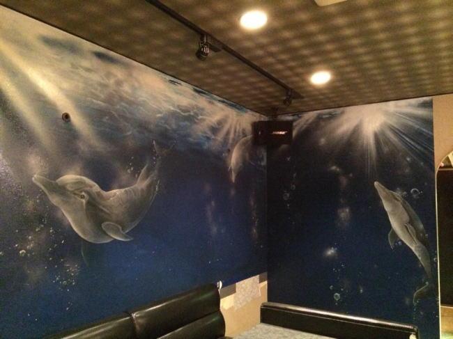 パブスナックH2O様 - 東京都東大和市/居酒屋・バー・スナック 店舗内装・壁画イラスト施工後写真9